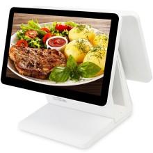 爱宝AB-8600D收银机 触摸屏双屏餐饮 收款机一体机超市快餐